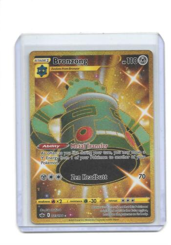 Pokemon Chilling Reign Bronzong 223/198 English Gold Secret Rare