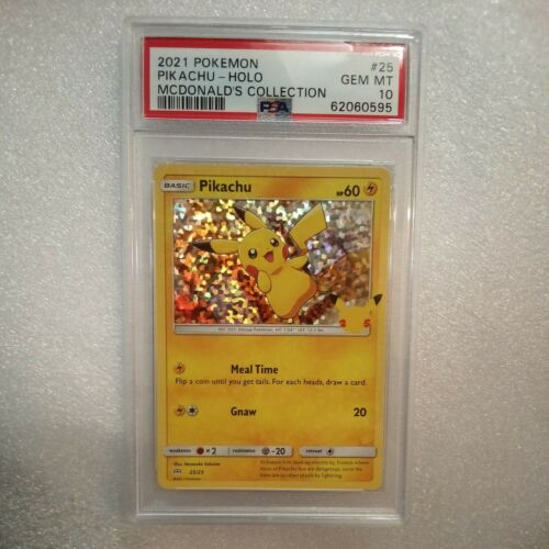 2021 Pokemon 25 McDonald's Collection 25/25 PIKACHU HOLO #25 PSA 10 GEM MT