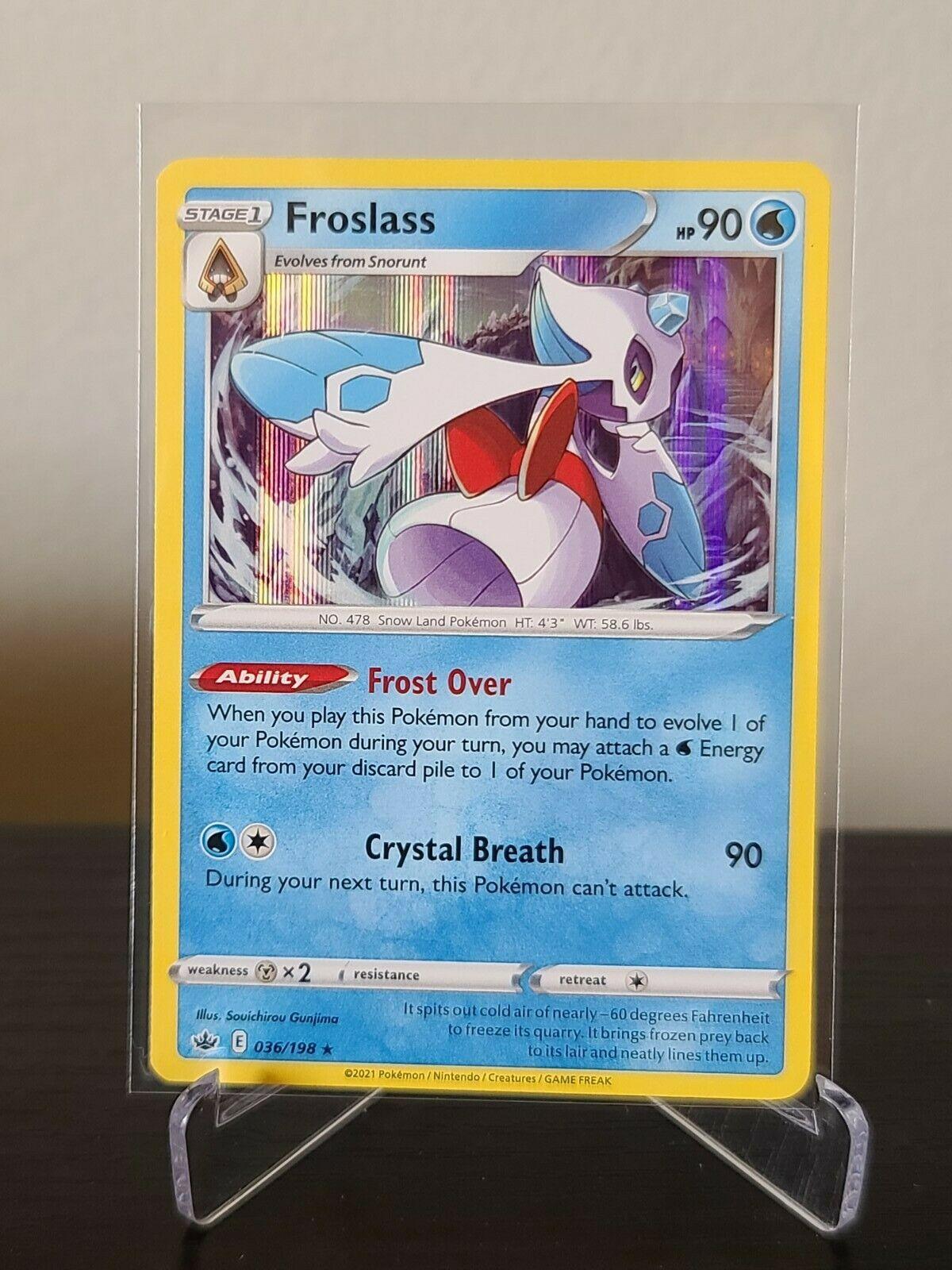 Pokemon FROSLASS 036/198 Chilling Reign - RARE HOLO - - MINT