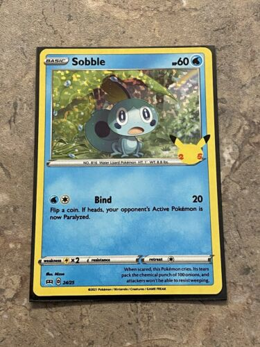 Sobble Holo 24/25 McDonald's Promo 25th Anniversary NM Pokémon Card