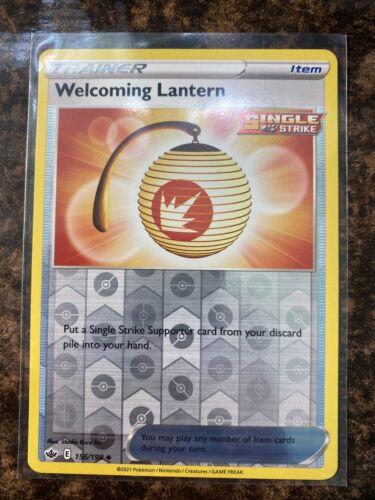 Welcoming Lantern 156/198 - Reverse Holo - Pokemon Chilling Reign - Mint - Image 1