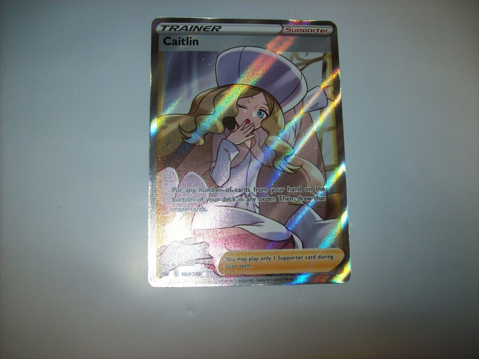 Caitlin 189/198 Full Art Trainer Pokemon Card Chilling Reign NM Free Shipping