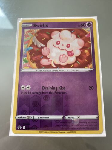Swirlix - Pokemon SWSH Chilling Reign - Reverse Holo - 067/198