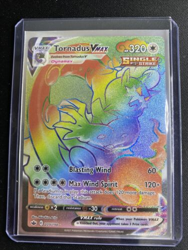 Pokemon Tornadus VMAX Rainbow Rare Chilling Reign 209/198