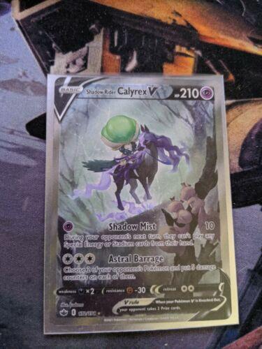 Pokemon Shadow Rider Calyrex V 172/198 Alternate Full Art Chilling Reign NM