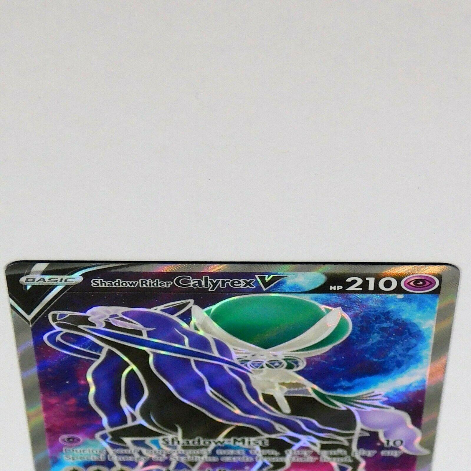 Shadow Rider Calyrex V 171/198 Full Art Ultra Chilling Reign Pokemon Card NM/M - Image 2