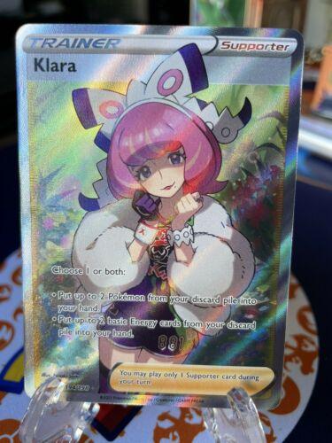 Pokémon Sword & Shield Chilling Reign Trainer Klara Full Art 194/198 Fresh Mint!
