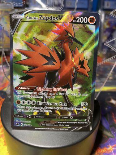 GALARIAN ZAPDOS V 173/198 Pokemon Chilling Reign ULTRA RARE FULL ART NM/MINT