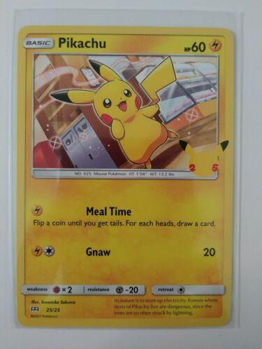 2021 McDonald's Pokemon, Pikachu 25/25 NON HOLO