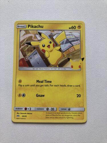 Pokemon Cards 25th Anniversary - McDonald's Promo 25/25 Pikachu non holo