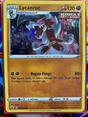 Pokemon Card    LYCANROC   Holo Rare  087/198   CHILLING REIGN  *MINT*
