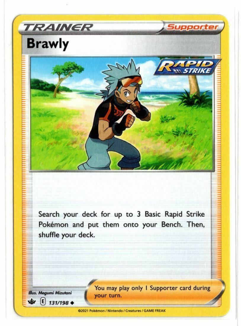 Pokemon TCG Chilling Reign - Brawly 131/198 NM/M - *Brand New*