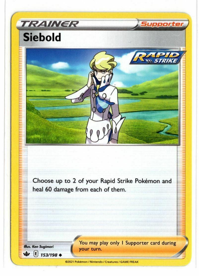 Pokemon TCG Chilling Reign - Siebold 153/198 NM/M - *Brand New*