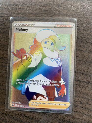 Pokemon MELONY 218/198 Chilling Reign RARE FULL ART - MINT