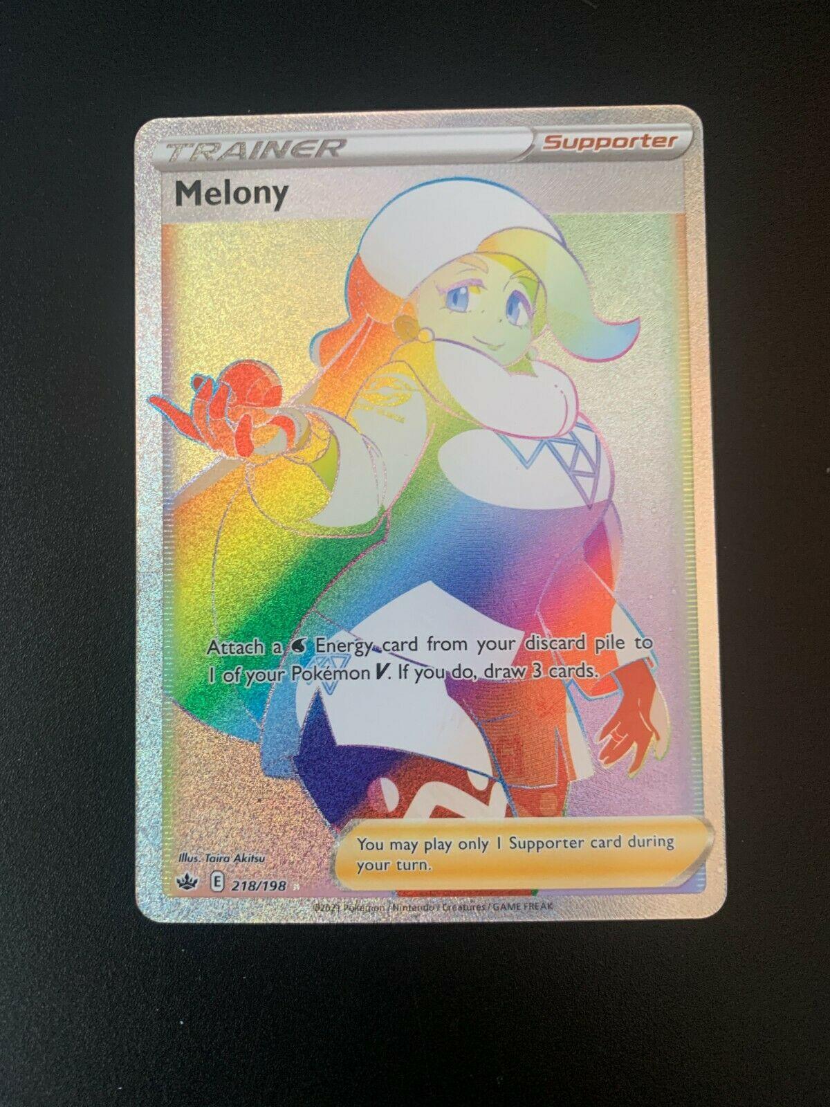 Pokemon Card Melony 218/198 Chilling Reign SECRET RARE