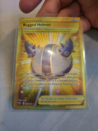 Pokemon Chilling Reign Rugged Helmet 228/198 Gold Secret Rare NM/M