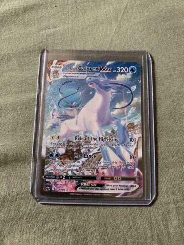 Pokemon Ice Rider Calyrex VMAX Alternate Art Secret Rare 203/198 Chilling Reign
