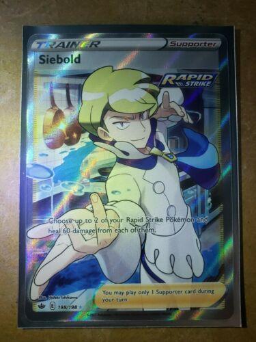 Siebold 198/198 Full Art Trainer NM/M Chilling Reign Pokemon Card