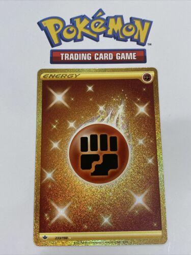 Pokémon TCG Chilling Reign Gold Fighting Energy Secret Rare 233/198 Extra Mint!!