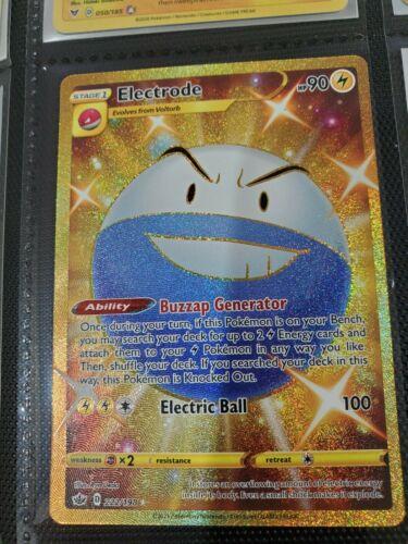 electrode 222/198 gold secret rare - pokemon tcg chilling reign MINT