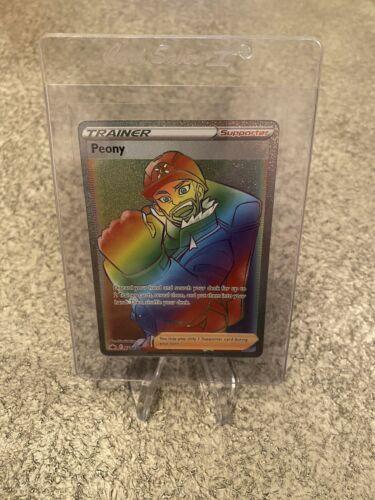 Pokemon TCG Chilling Reign Peony (Secret Rare) (Rainbow) #220/198 NM-M
