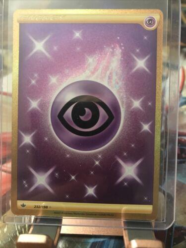 Pokemon Chilling Reign Gold Secret Rare Energy Psychic 232/198
