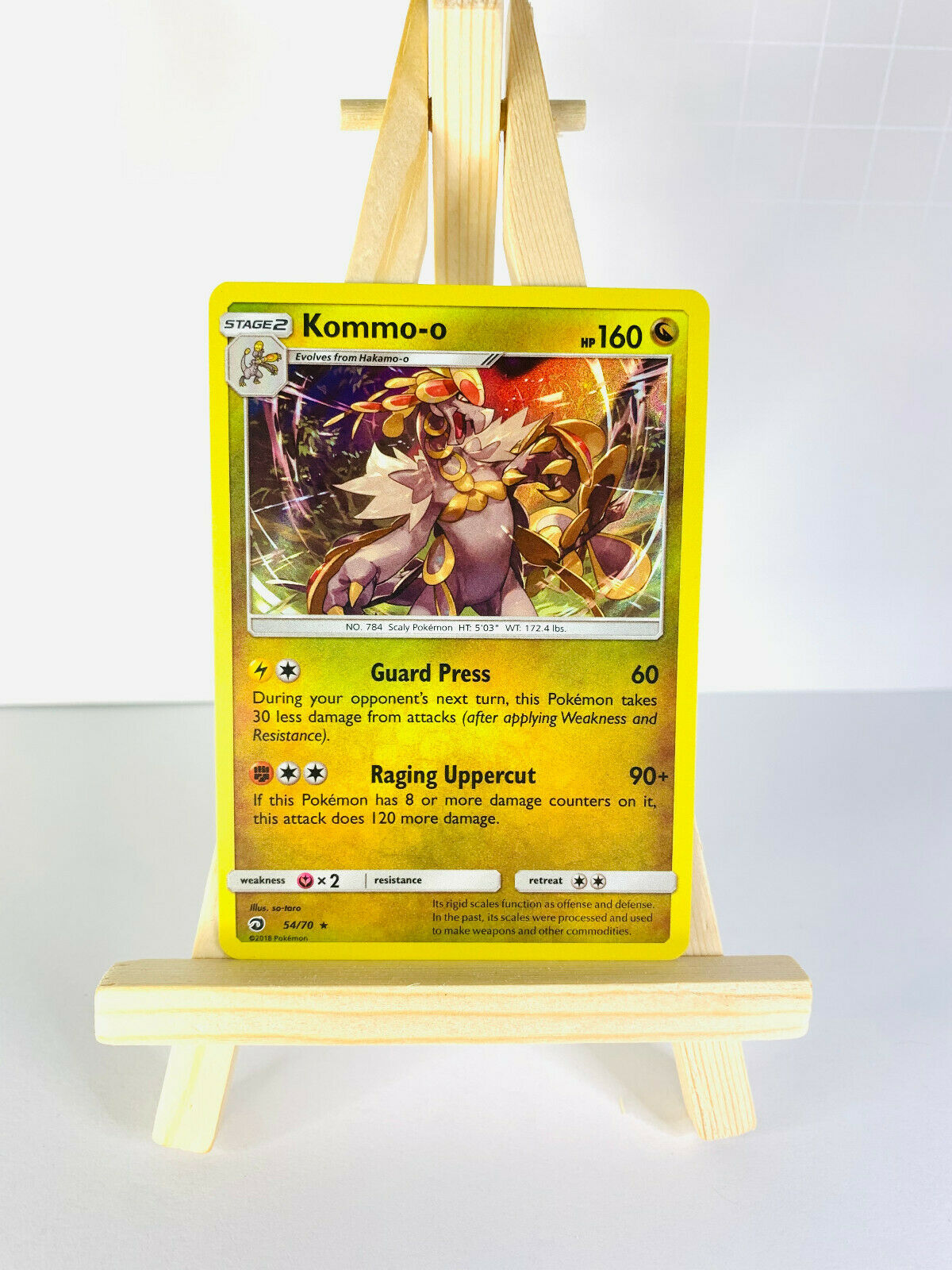 Pokemon - KOMMO-O 54/70 - Dragon Majesty - Holo - NM