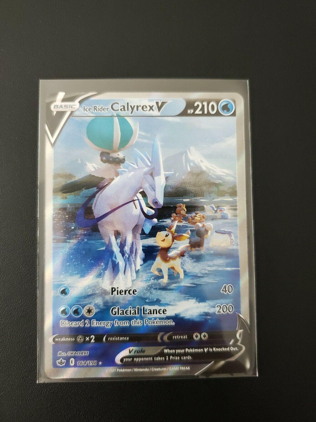 2021 Pokemon Chilling Reign Ice Rider Calyrex V Alternate Art. 164/198. NM.