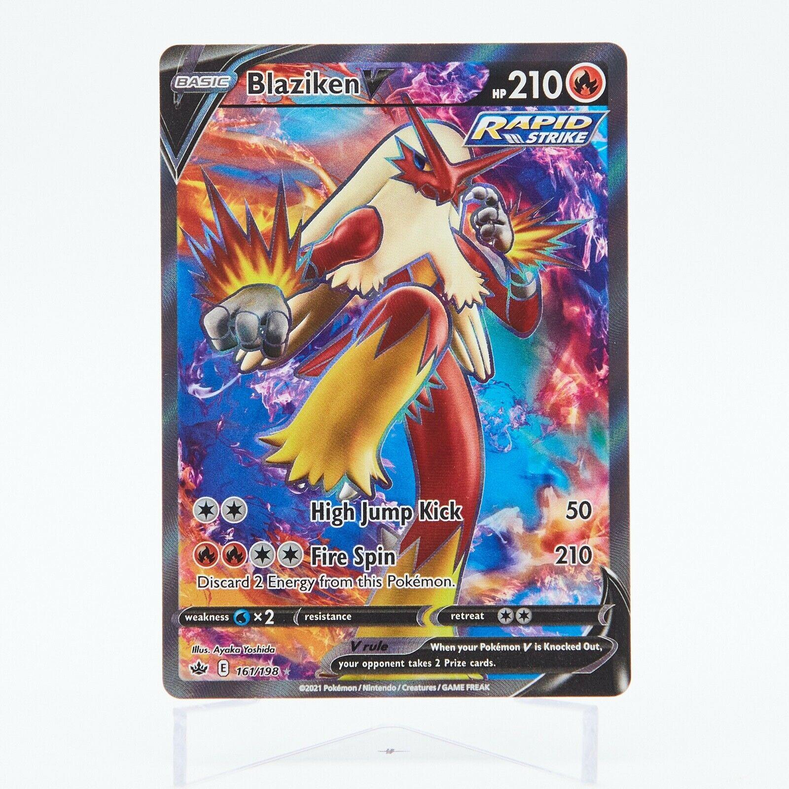 Pokemon - Blaziken V 161/198 Full Art Ultra Rare - Chilling Reign NM/M