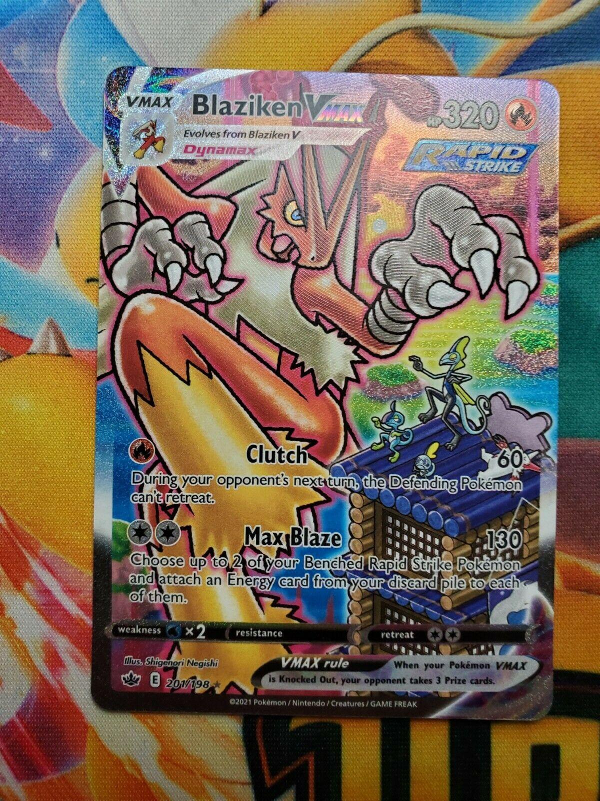 Blaziken Vmax Alternate Art 201/198 Chilling Reign Secret Rare PERFECT CONDITION