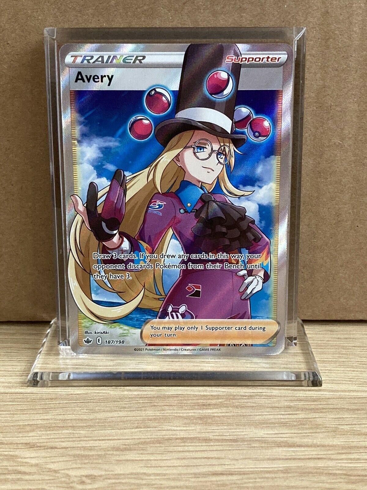 Avery 187/198 Pokemon TCG Chilling Reign Full Art Ultra Rare
