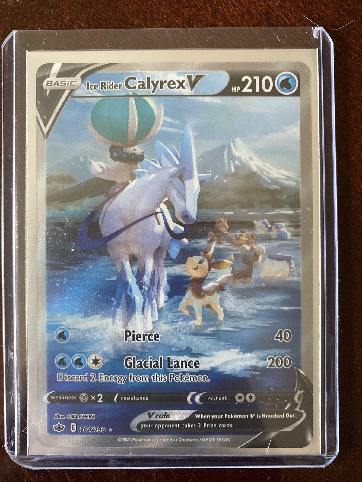 Ice Rider Calyrex V 164/198 - Full Art Chilling Reign Pokémon - Alt Art