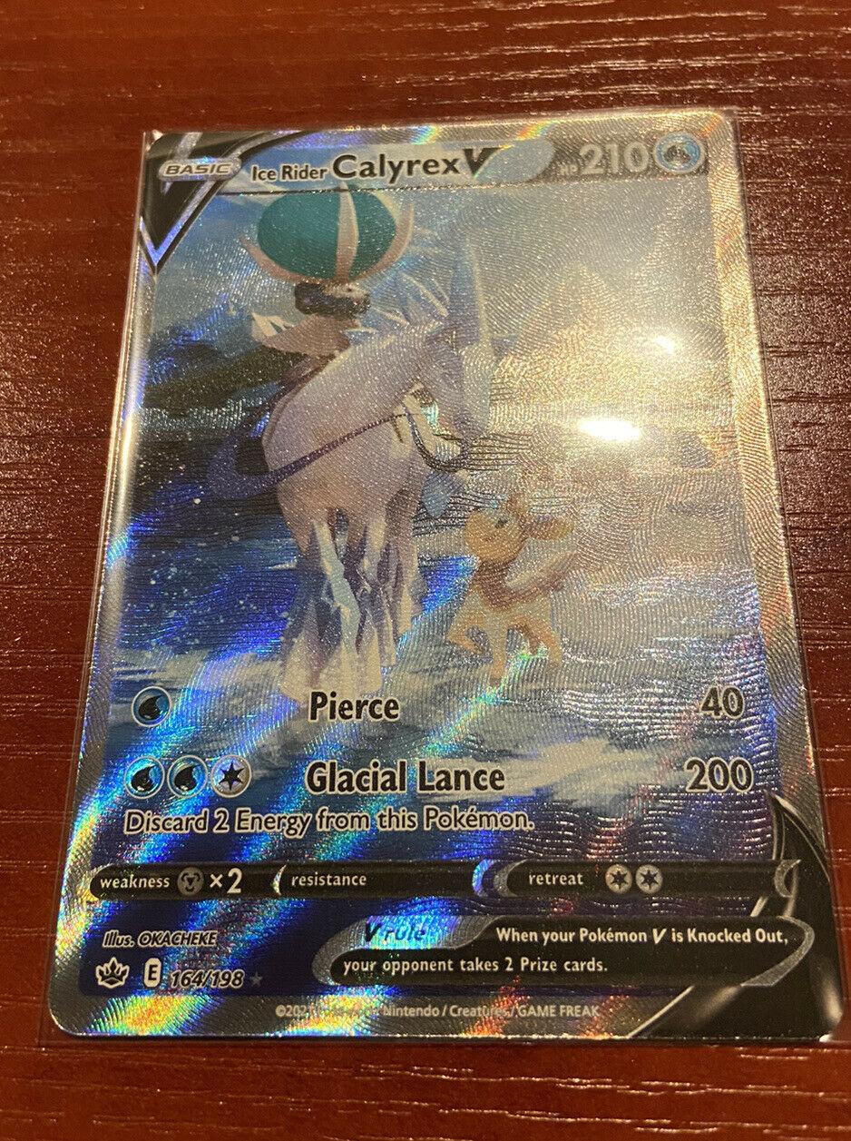 Pokemon Chilling Reign Ice Rider Calyrex V Alternate Art. 164/198. NM.