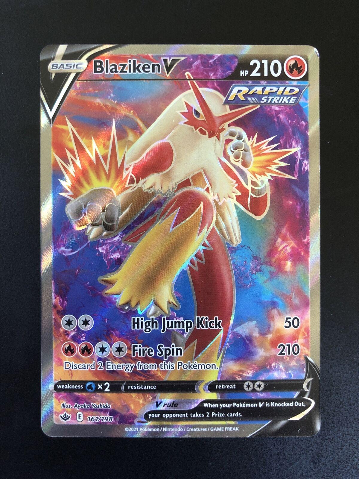 Pokemon BLAZIKEN V 161/198 FULL ART HOLO ULTRA RARE Chilling Reign