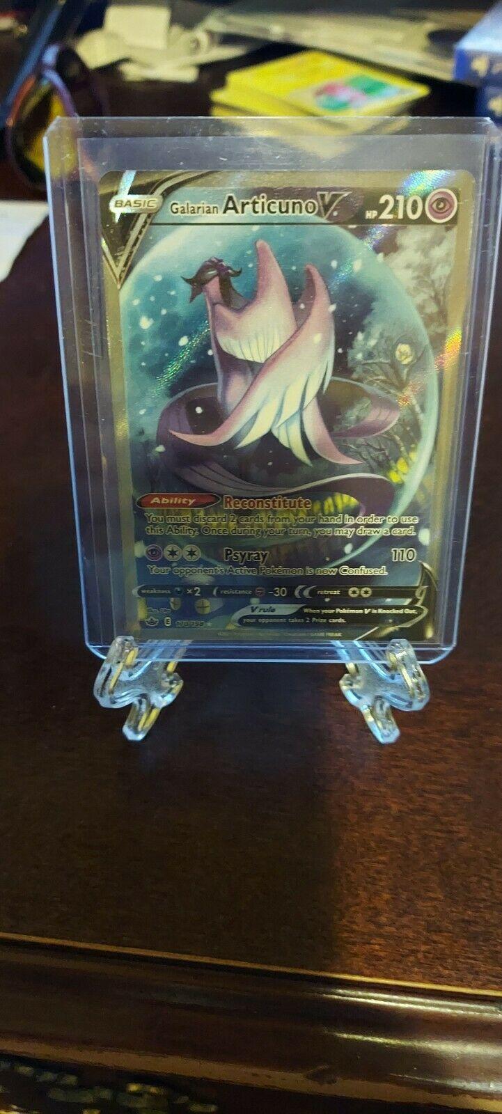 GALARIAN ARTICUNO V FULL ALTERNATE ART 170/198 Pokemon Chilling Reign