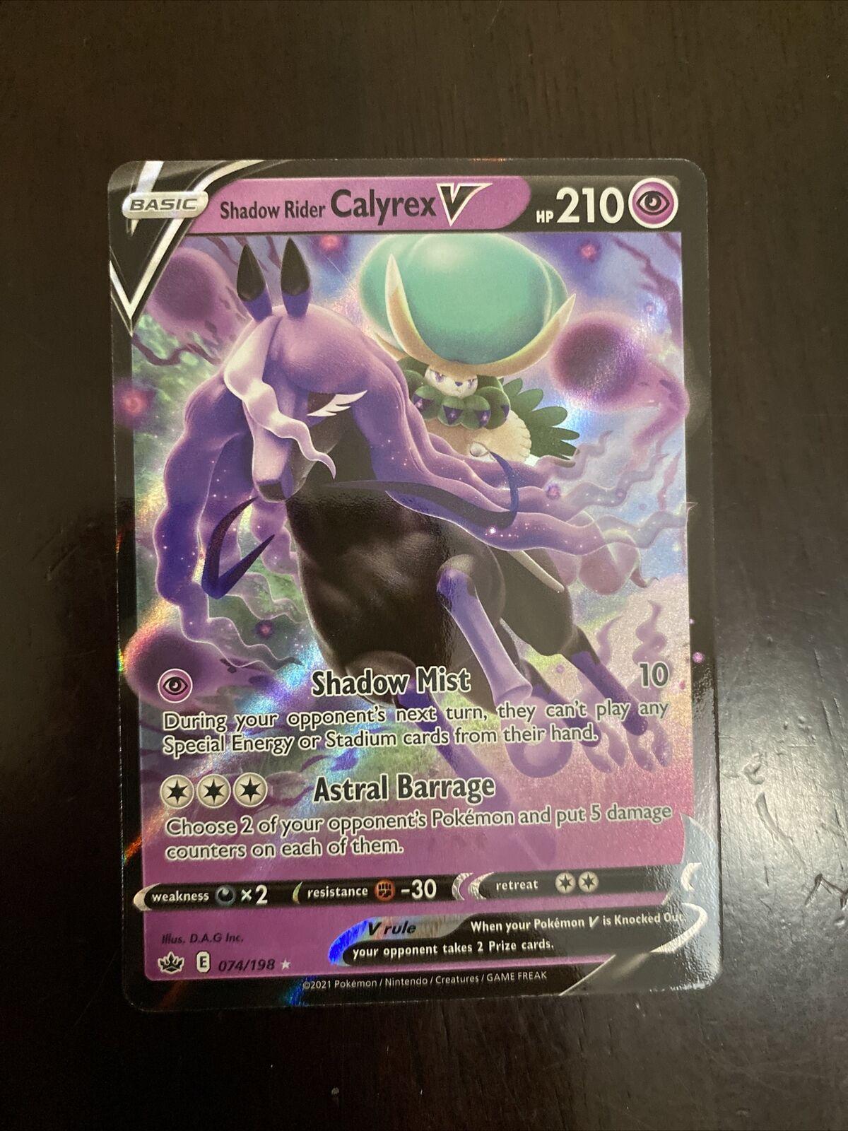 Pokemon Chilling Reign Shadow Rider Calyrex V 074/198