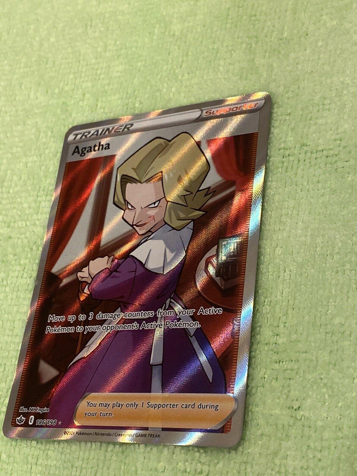Agatha 186/198 Full Art - NM! See Pics! Pokemon Chilling Reign