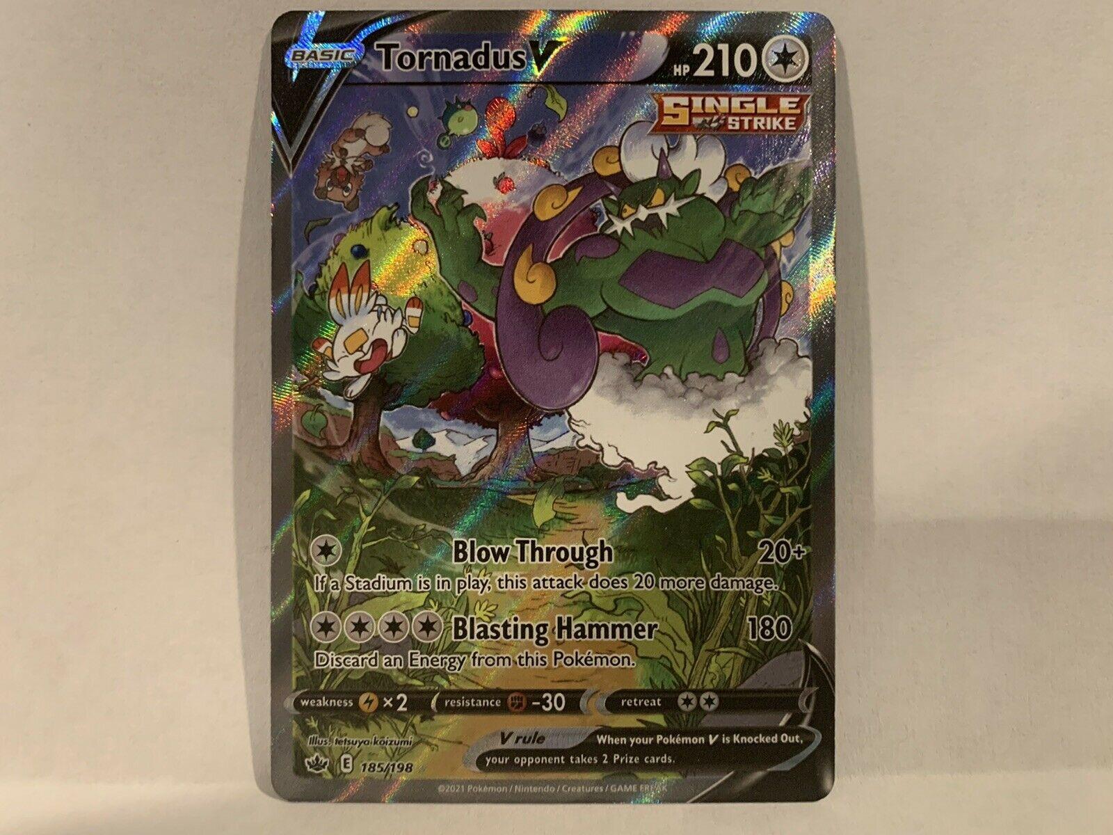 Pokemon TCG Chilling Reign Tornadus V Alternative alt full art 185/198 NM/M