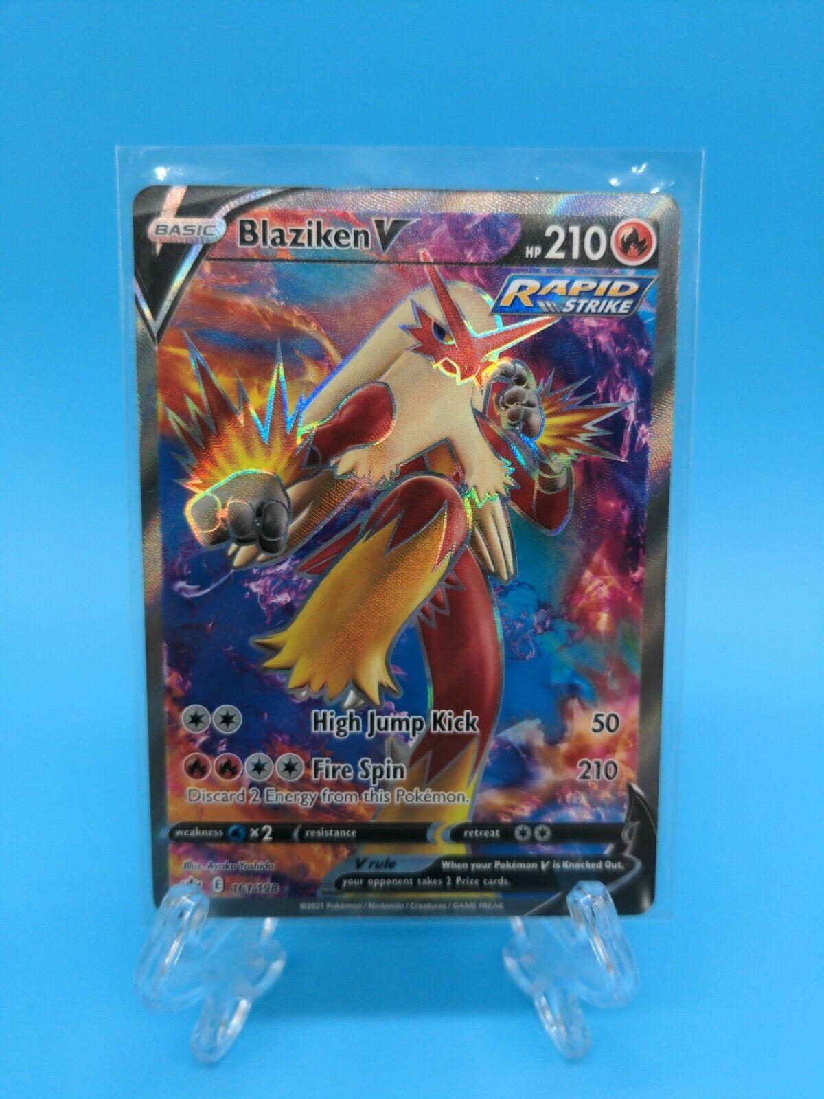 Blaziken V Full Art 161/198 Ultra Rare Chilling Reign Pokemon TCG Near Mint