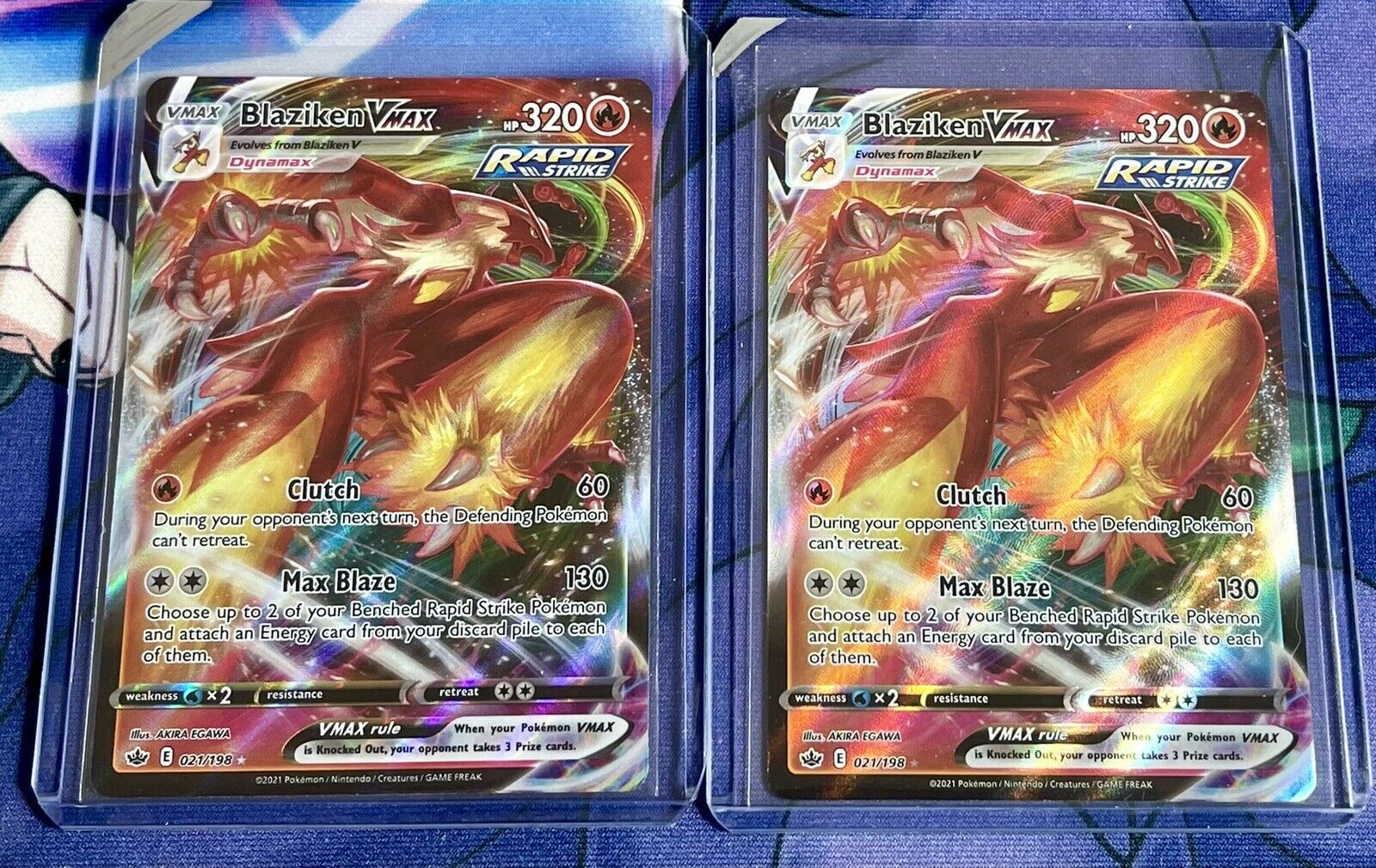 Blaziken VMAX (TWO / X2) 021/198 Full Art NM/M Chilling Reign Pokemon Card