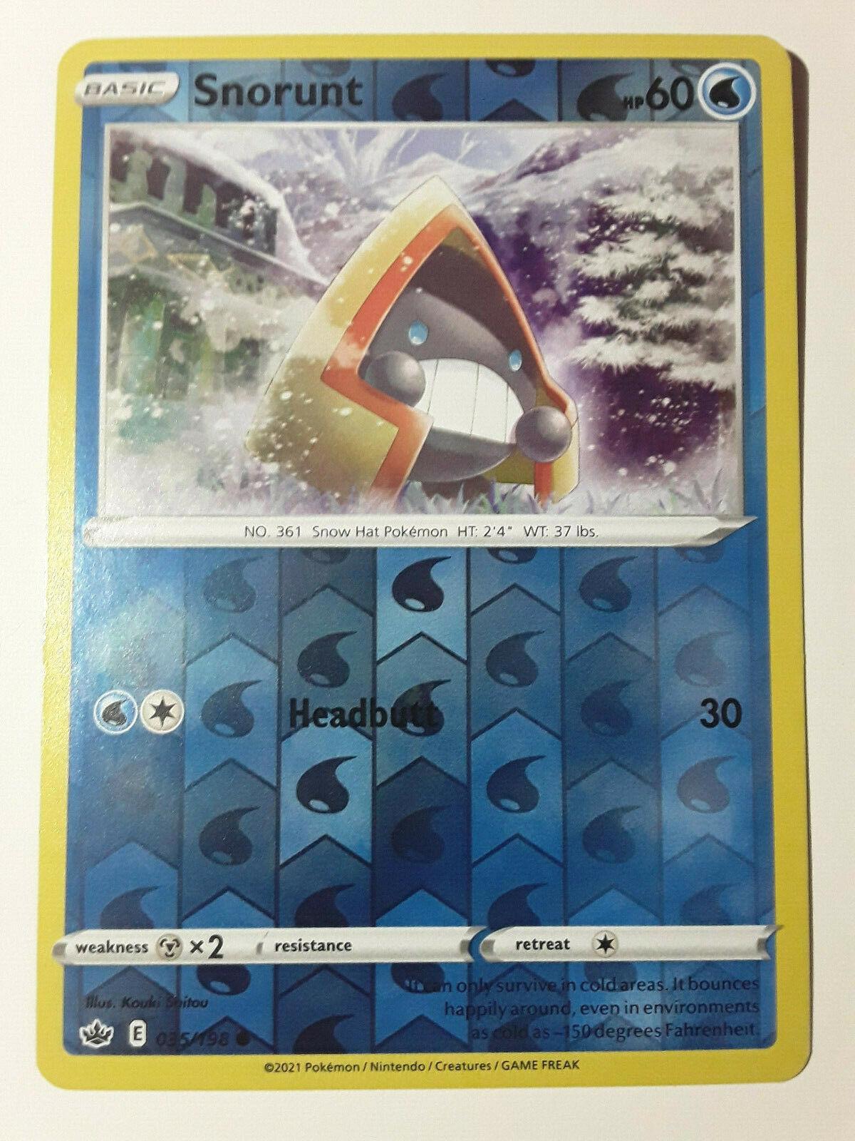 Pokemon Chilling Reign, Rev-Holo, Snorunt - 035/198 Common