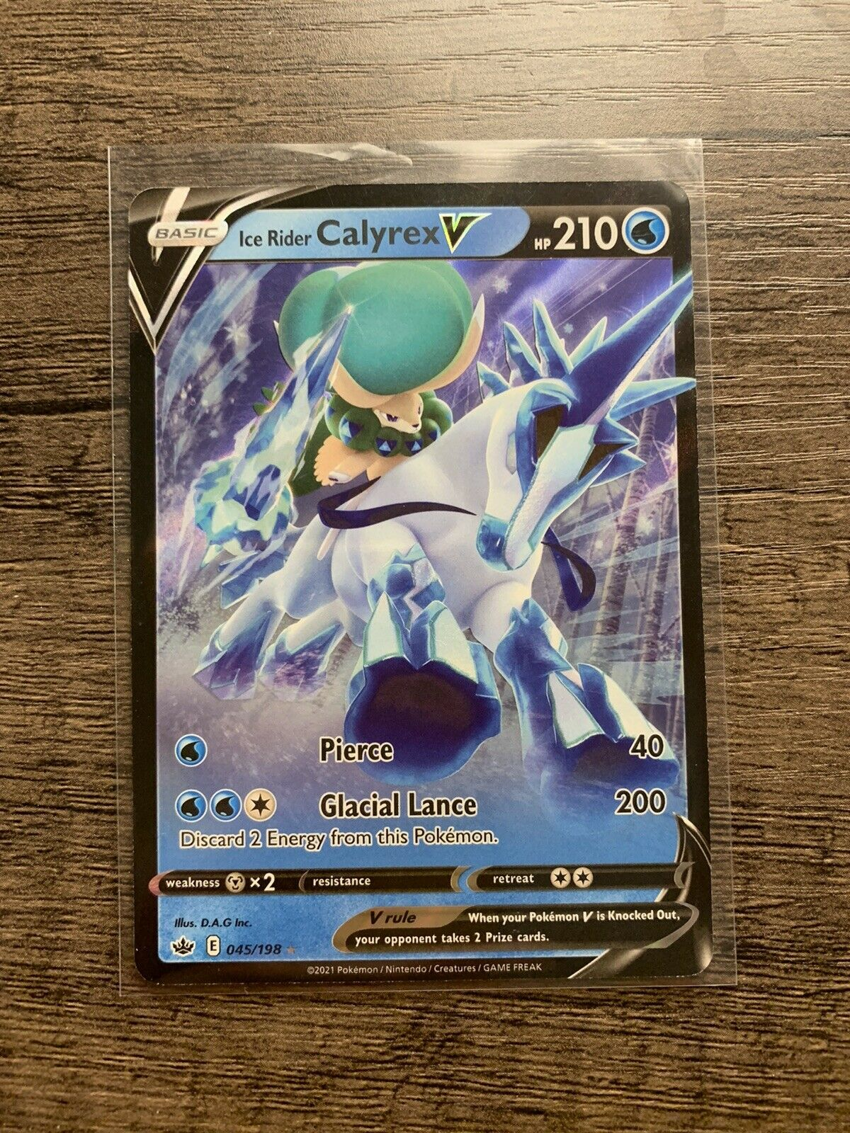 Ice Rider Calyrex V Pokémon TCG Chilling Reign 045/198 Mint Ultra Rare