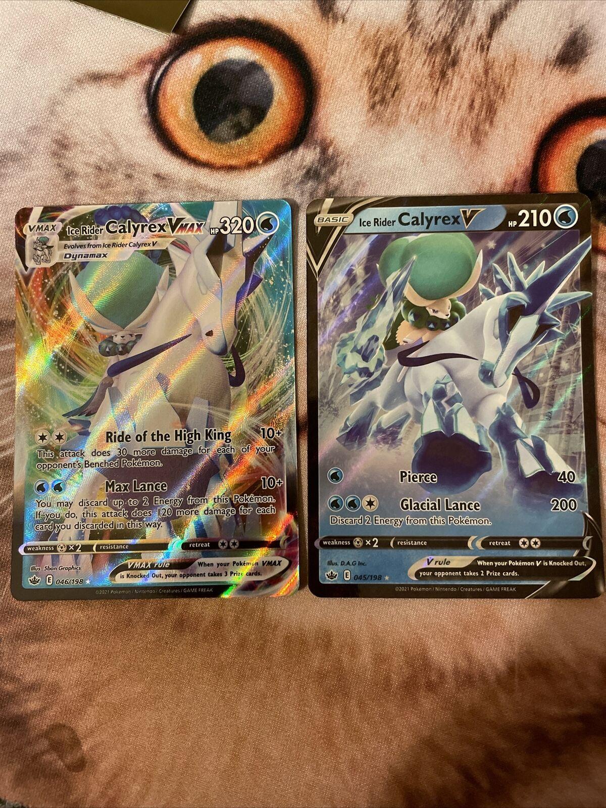 Ice Rider Calyrex VMAX 046/198 & Calyrex V 045/189 - Chilling Reign Pokemon