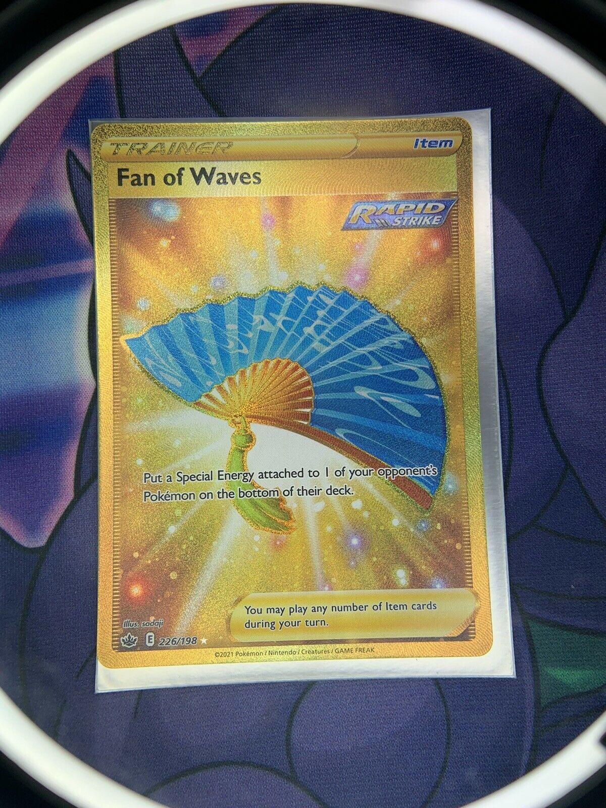 TCG Pokemon Chilling Reign Fan of Waves 226/198 Gold Secret Rare