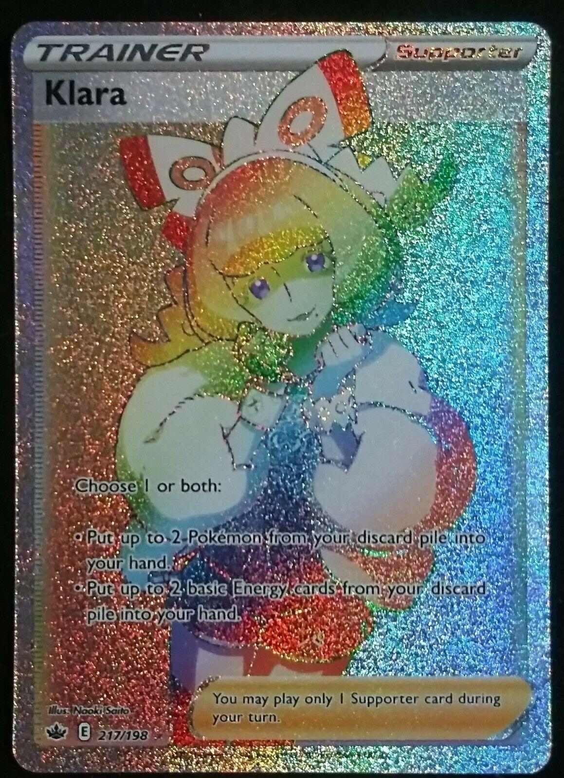Klara Rainbow Full Art Pokemon Chilling Reign 217/198 Secret Rare M/NM 💥💥💥