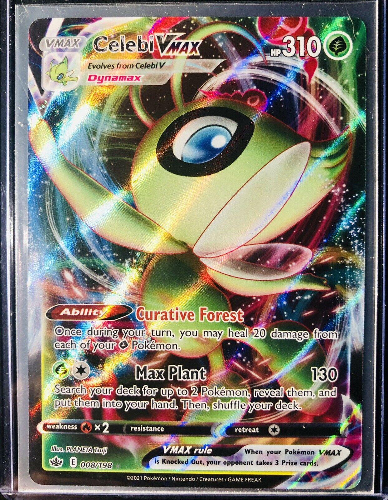 Chilling Reign Full art Celebi VMAX 008/198 Pokemon TCG NM/M