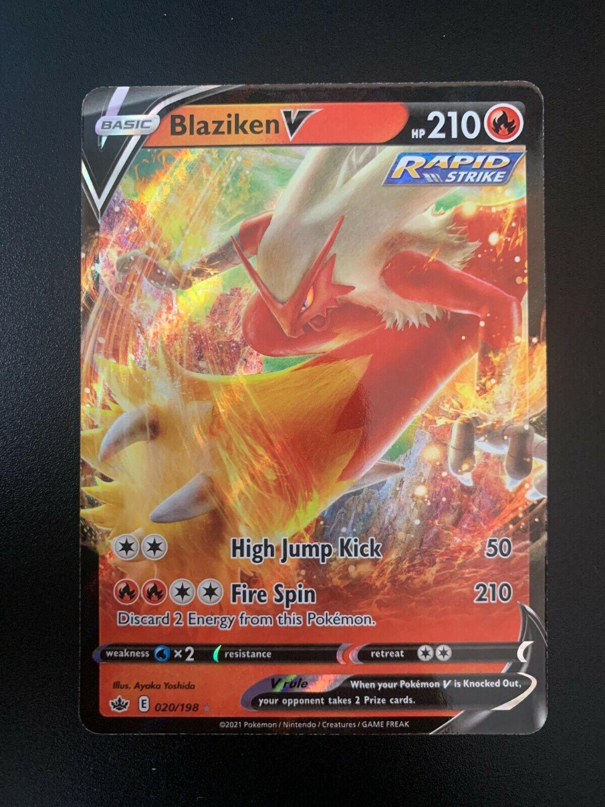 Pokemon Card Blaziken V 020/198 Chilling Reign HOLO RARE