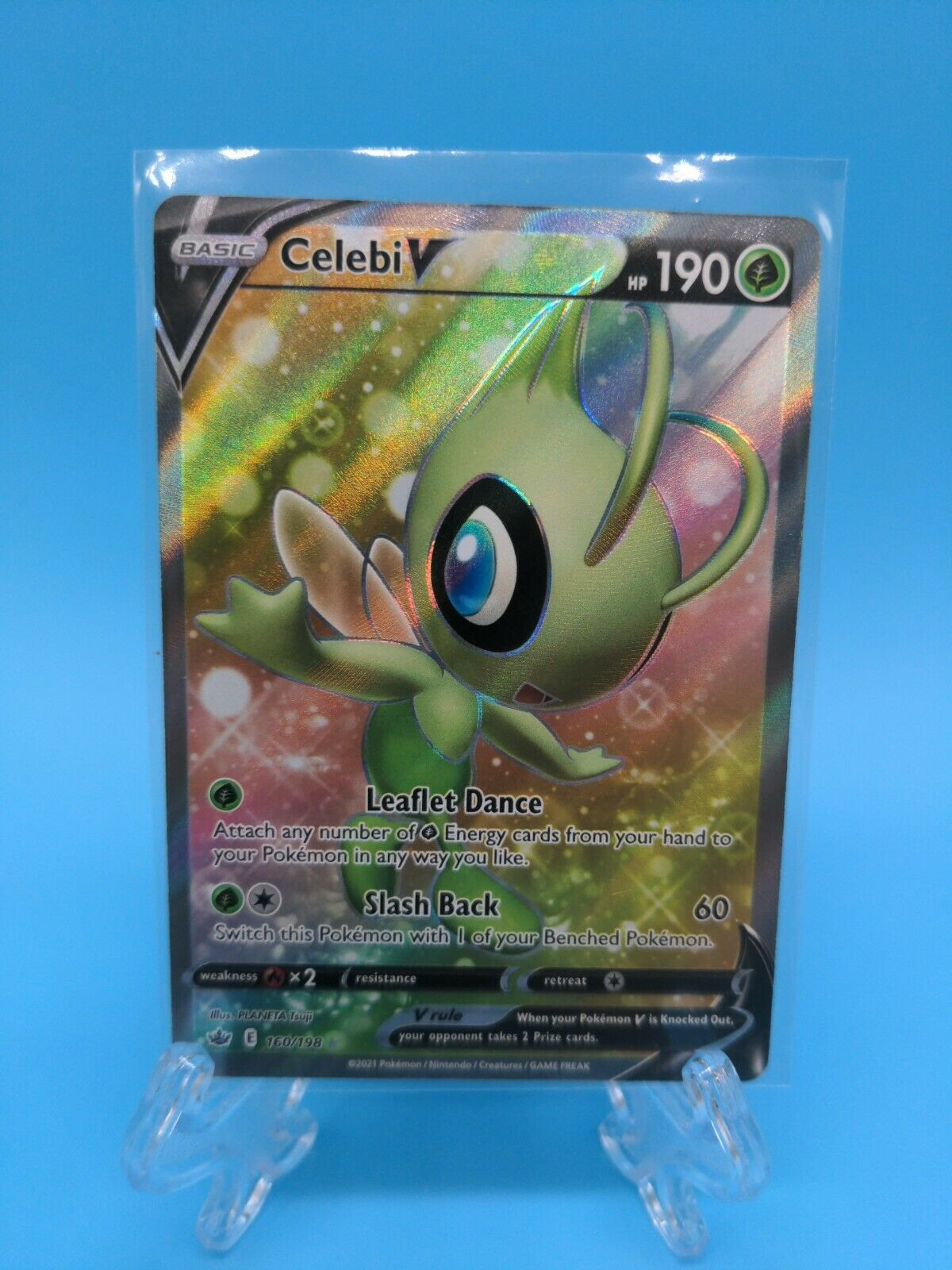 Celebi V Full Art 160/198 Ultra Rare Chilling Reign Pokemon TCG Near Mint
