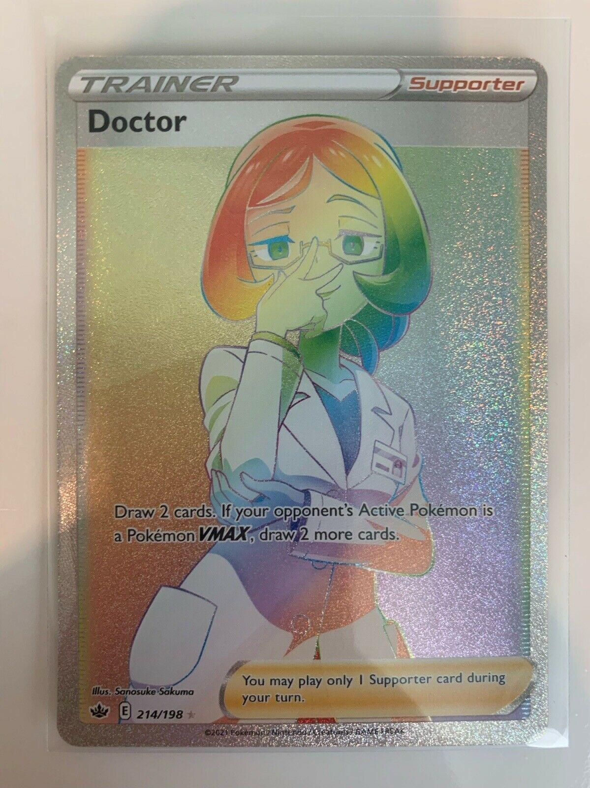 Doctor Full Art Rainbow Rare 214/198 Chilling Reign Pokemon Card