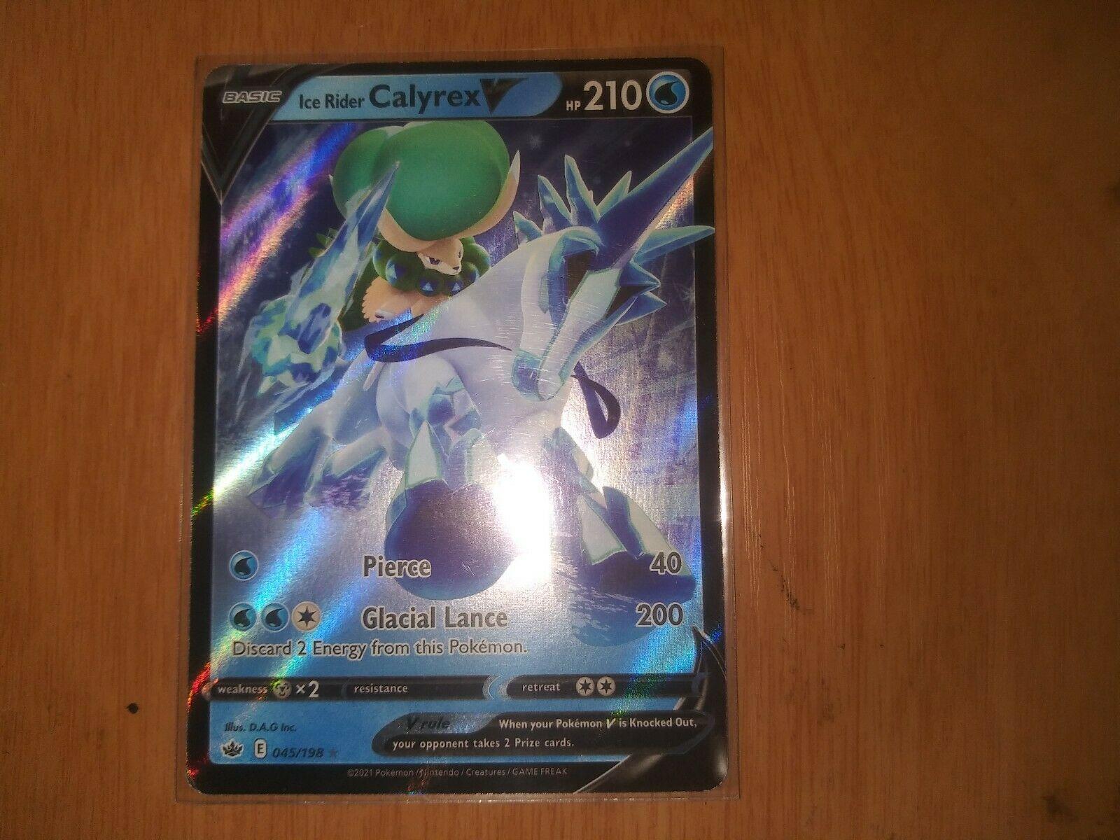 Pokemon - Ice Rider Calyrex V - 045/198 - Ultra Rare - Chilling Reign - NM/M